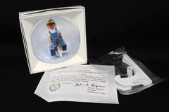 Pemberton Oakes 1993 Zolan Little Traveler Girl with Suitcases Miniature Plate