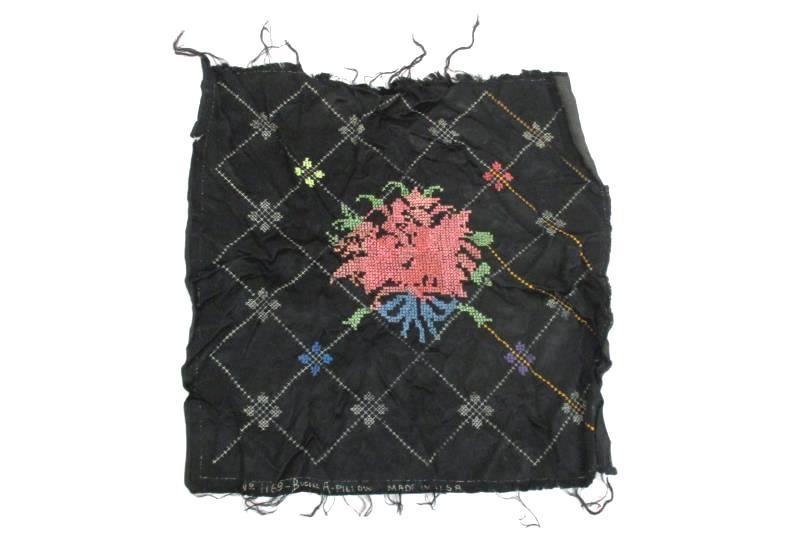 Bucilla Pillow Cross Stitch Pillow Top 1169 Partially Done