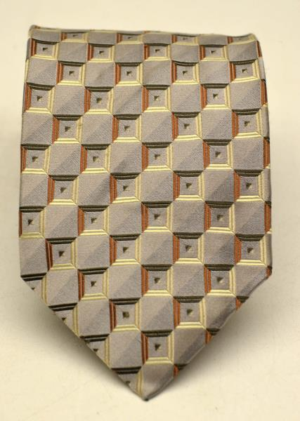 ROBERTO VILLINI Collezione Men's 100% Pure Silk Neck Tie Silver Hand Made