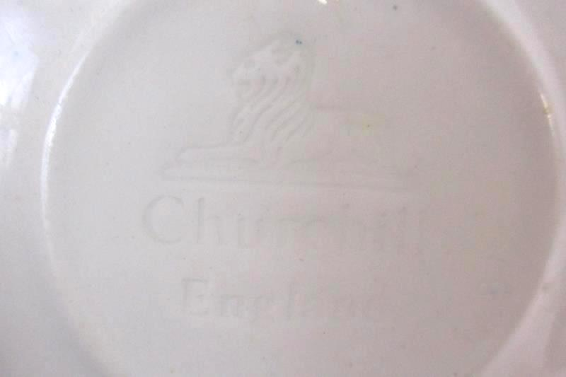 Lot of 2 Churchill England Vintage Blue Willow China Saucers Replacements