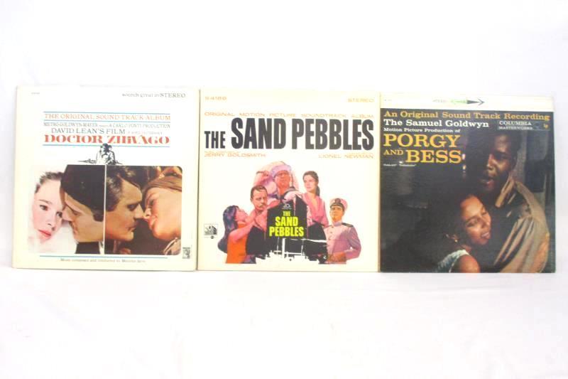 Lot of 3 Movie Soundtrack Vinyl Records Porgy Bess Doctor Zhivago Sand Pebble