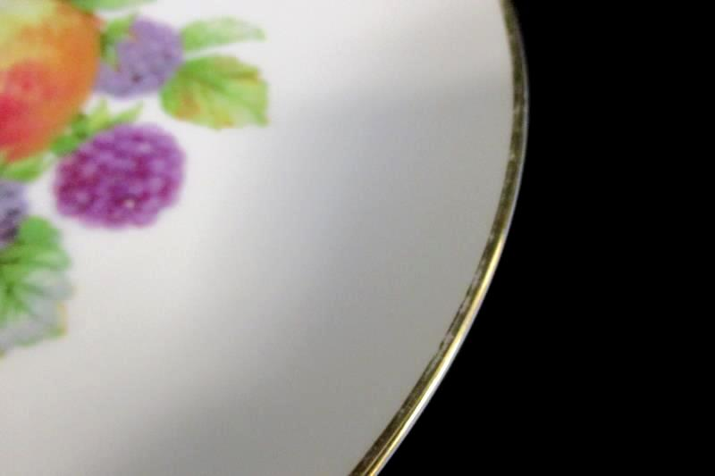Vintage Thomas Germany Porcelain Fruit Side Plate with Gold Trim 7035 29