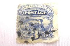 1869 Railways Of America 3 Cent United States Postage Stamp Scott 114 Used