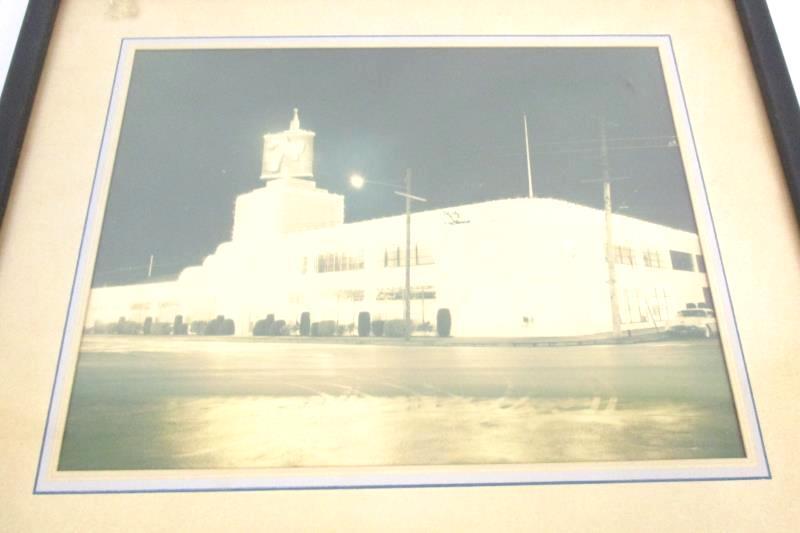 Vintage 7up Building Factory Framed Photo Print Black White 13 x 11 Inch