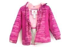Free Country Polyester Hooded Jacket Magenta Pink Coat Girl's Size M 10-12