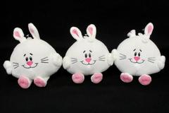 Lot of 3 Cute Bunny Rabbit American Greetings Plush Stocking Stuffer Christmas