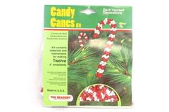 Candy Cane Kit The Beadery DIY Decorations Red White Makes 12 Ornaments Sealed