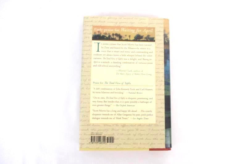 Waiting For April Scott M Morris 2003 Algonquin Hardcover 1st Ed Novel Book