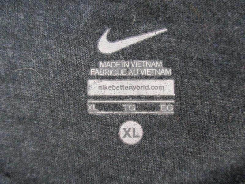 Nike Women's OSU Beavers Shirt Top Gray V Neck Short Sleeve Cotton Blend Sz XL