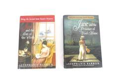Lot of 2 Stephanie Barron Austen Mystery Books Prisoner Wool House Man of Cloth