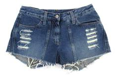 United Colors Of Benetton Women's Denim Shorts Cut Off Distressed Sz 42 US M