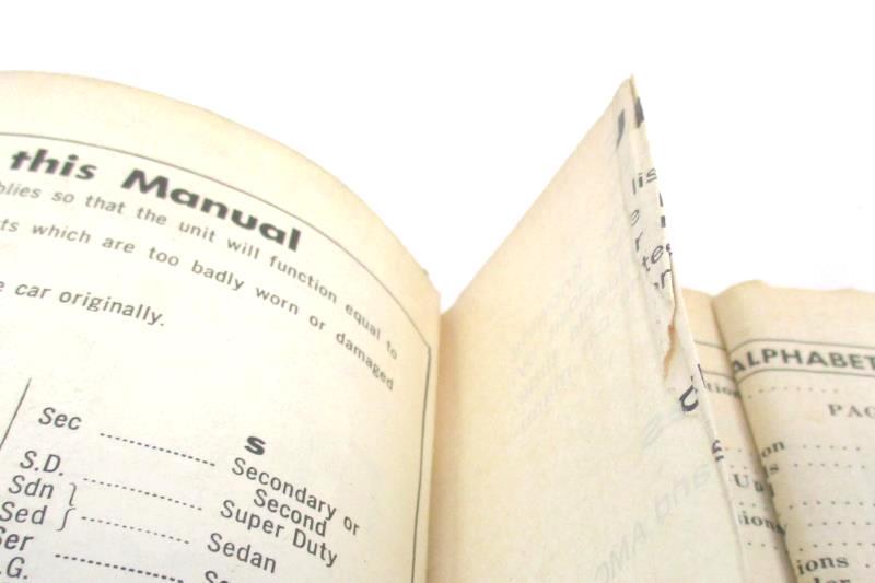 Chilton's Professional Labor Guide Parts Manual 1971-1978 6595