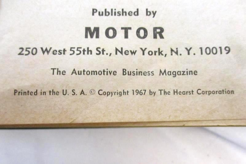 Motor's Auto Repair Manual 1967 30th Edition 1st Print Hardcover Hearst Corp