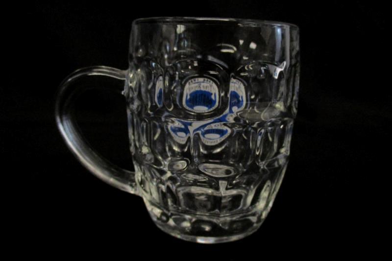 Portland Brewing True Brews Tenth Anniversary Glass Mug Stein 1986 - 1996