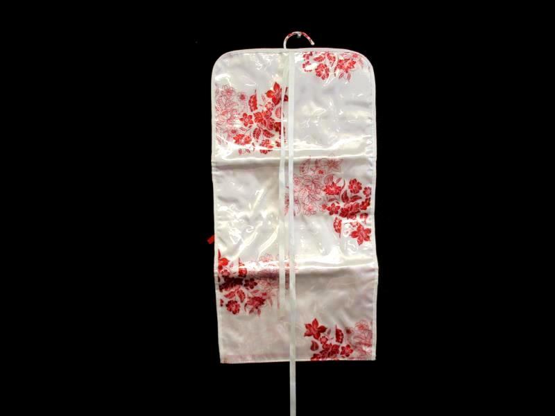 Yon Ka Paris Make Up Shower Travel Bag Plastic Red White Floral Foldable