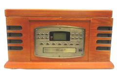 Crosley CR78CD 3 Speed Record Turntable Cassette CD Radio Player 4 in 1 Wood