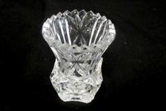 Glass Toothpick Holder Miniature Vase Scalloped Diamond