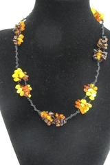 "Baltic Amber Necklace Honey Cognac Butterscotch 10g Hand-Beaded 19""  84 pcs"