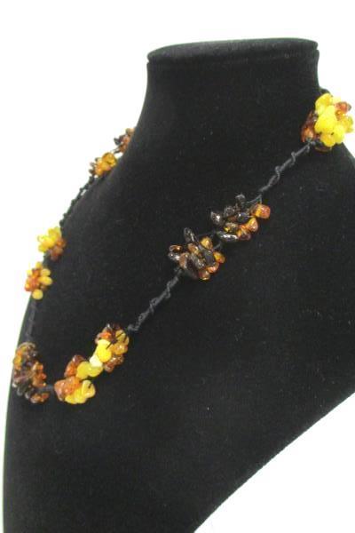 """Baltic Amber Necklace Honey Cognac Butterscotch 10g Hand-Beaded 19""""  84 pcs"""