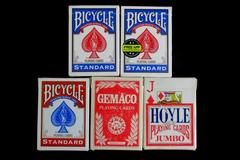 Set of 5 Decks Of Poker Playing Cards Gemaco Hoyle Bicyle