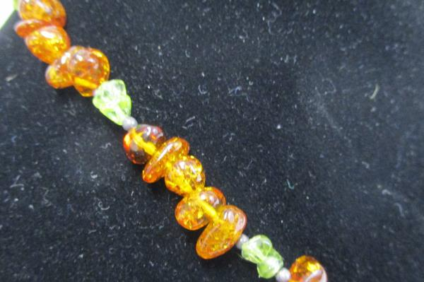 "Baltic Amber Necklace Honey Green Butterscotch 8g nuggets 17.5""  106 pcs"