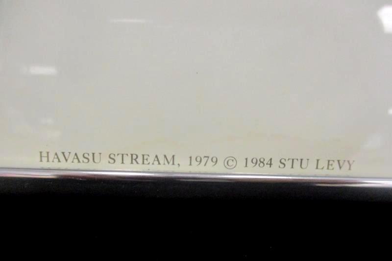 Stu Levy The Silver Image Gallery 1984 Havasu Stream Silver Metal 28X24 Signed