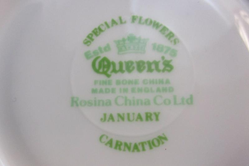 Lot of 3 Queen's Rosina China Floral Gold Rim Saucers Plates January 9 14