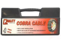 Quality Chain Corp Cobra Cable Tire Chains 1034 Fast Easy Installation 1 Pair