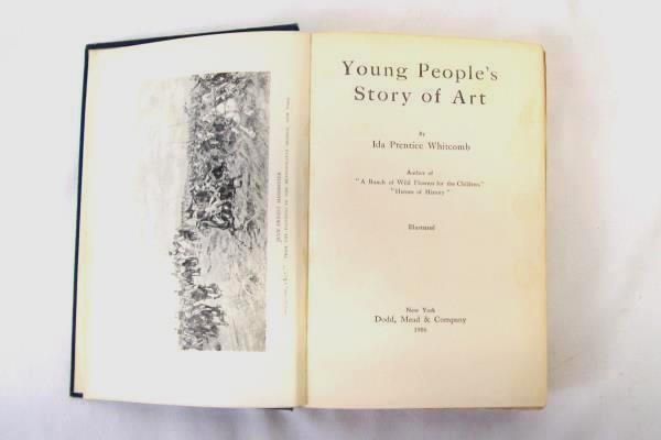 Young People's Story of Art Ida Prentice Whitcomb Antique 1906 Hardcover