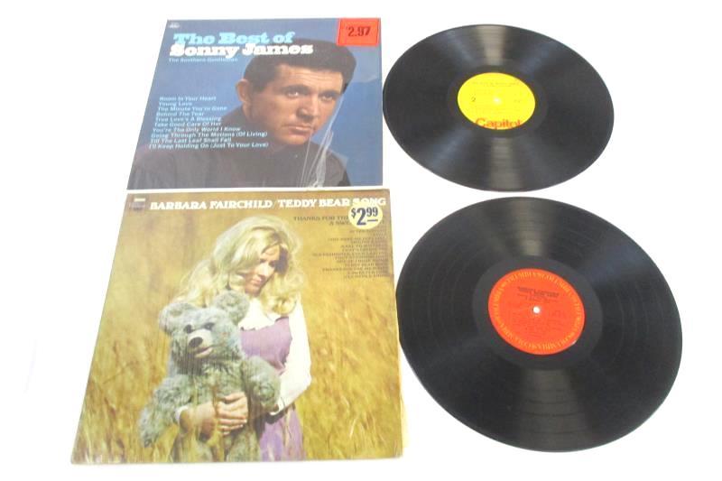 Lot of 5 Folk World and Country Records Danny Davis Barbara Fairchild Dirt Band