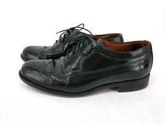 Bostonian Classics Wingtip Oxfords Madison Brogue Dress Shoes Black Mens 9.5