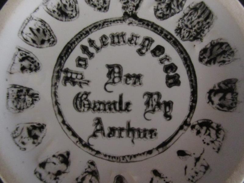 Vintage Den Gamle By Aarhus Hattemageren Irene Coffee Mug Tea Cup White Denmark