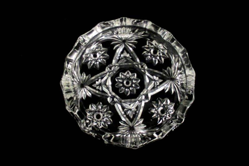 Vintage Anchor Hocking Prescut Clear Large Ashtray 7 3/4in