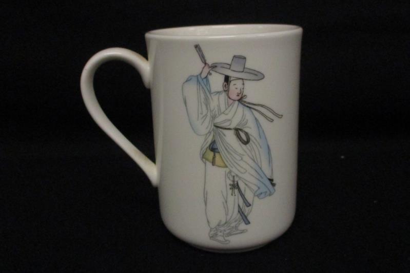 Hankook Fine China Coffee Tea Mug 9222 Korean Man in Traditional Clothing