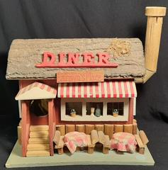 Carolyns Place Handmade Wooden Diner Colorful Model The Berry Company