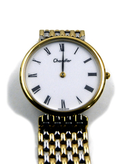 CHANDLER Swiss Silver Gold Overlay Wrist Watch NEW