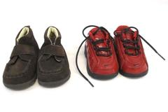 Lot of 2 Baby Toddler Shoes Sz 4 Nike Cross Train Red Childrens Place Brown Boot