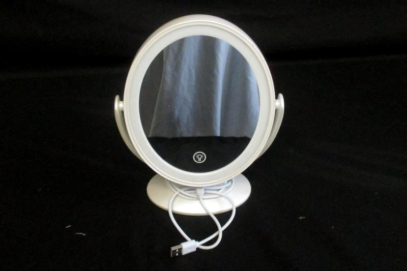 Aesfee Makeup Mirror LED Light Touch  Sensor Rechargeable 7x Magnified White