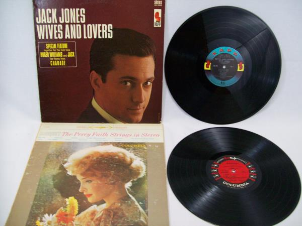 Lot of 6 Love/Romance Songs VINYL RECORDS ~ JACK JONES CHARLIE RICH PLUS MORE
