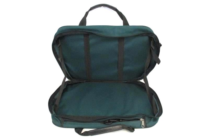 Uphill Down USA Travel Bag Messenger Luggage Green Floral Canvas Missing Strap