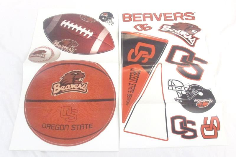 Lot of 7 OSU Oregon State University Items Battery Powered Candles Stickers Jar
