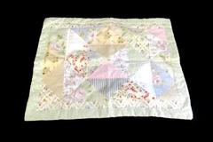 Keeco Patch Quilted Pillow Sham Cover Green Floral 29.5 inches x 23.75 Inches