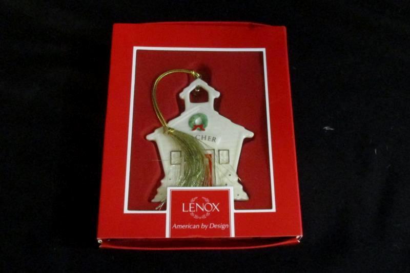 Lenox For My Teacher Christmas Porcelain Ornament School House