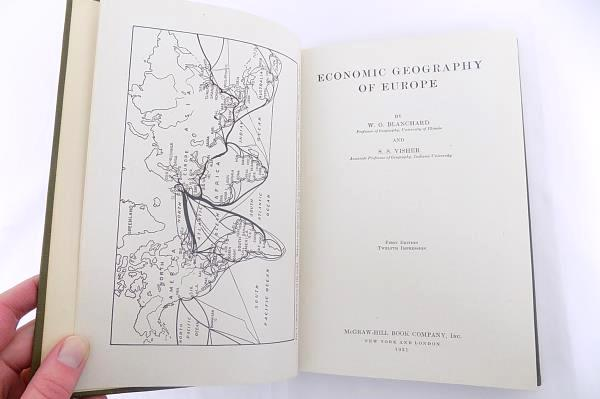 Economic Geography of Europe 1931 1st Ed by W O Blanchard and S S Visher
