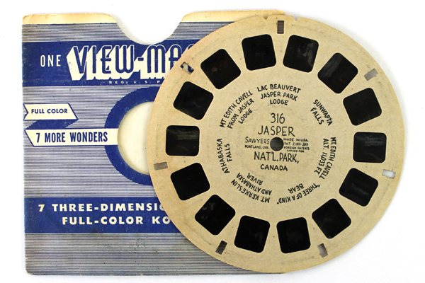 1940's View Master Reel #316 Jasper National Park Canada I Hand Lettered