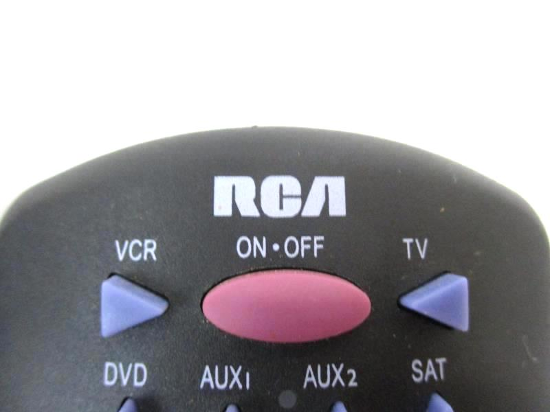 Lot of 2 RCA Wide Range Universal Remotes TV DVD VCR Replacements Black