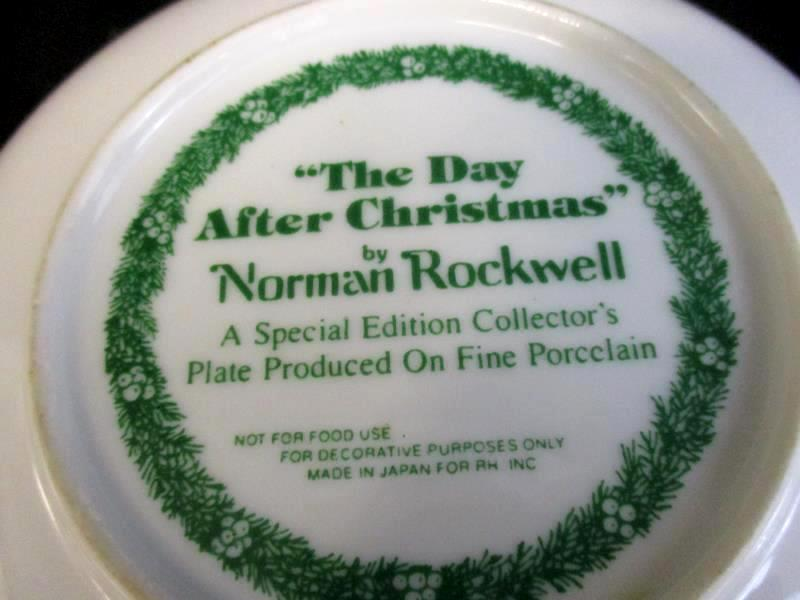 Vtg Norman Rockwell Day After Christmas Collectors Plate Special Edition 6.5in