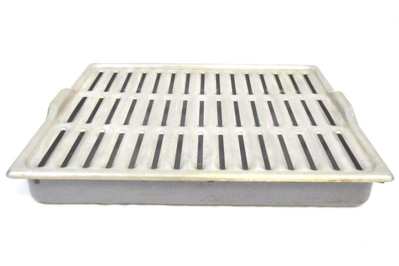 Enamel Speckled Broiler Drip Pan With Aluminum Rack 16 x 13in