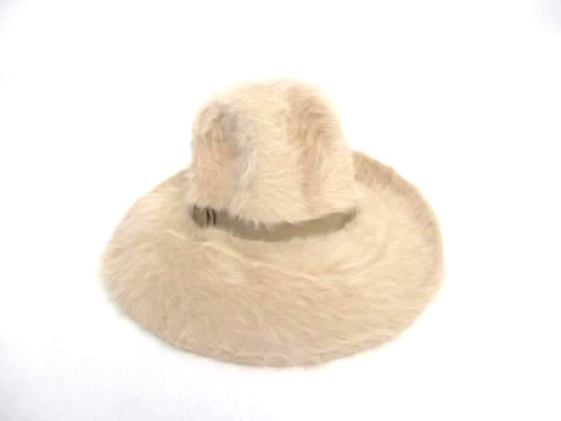 Vintage Beige Women's 60's Style Fur Hat in Box