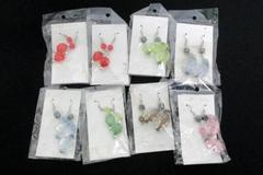 NEW 8 Pairs of Pieced Earrings Dangle Drop Beaded Fashion Jewelry Pastel Colors